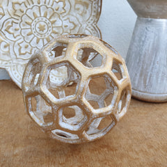 Gold Cast Iron Decorative Sphere