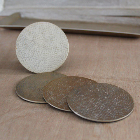 Gold Hammered Coasters Set of 4 - The Chic Nest