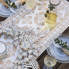 Gold Printed Table Runner - Handcrafted