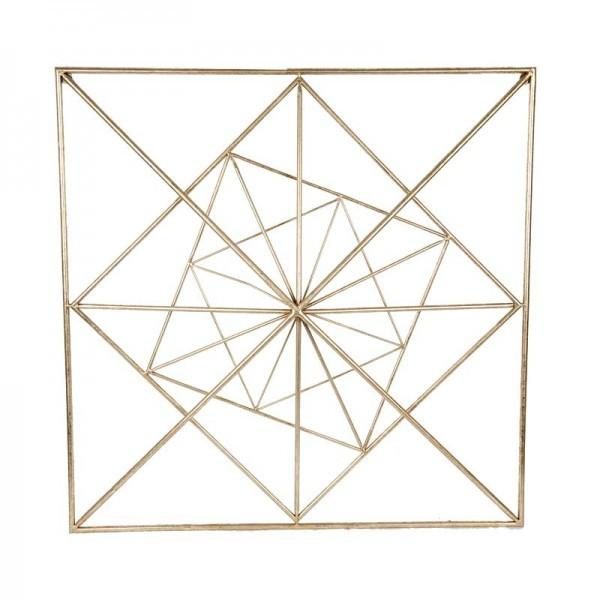 Gold Square Wall Decor : Gold square geo wall art the chic nest