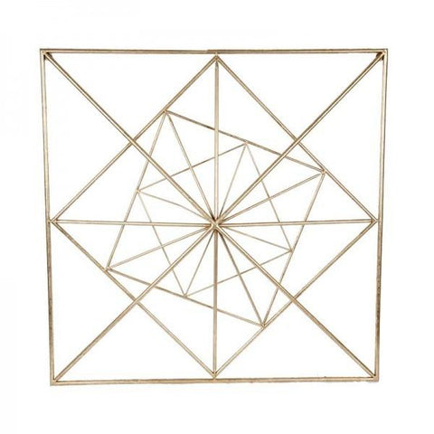 Gold Square Geo Wall Art