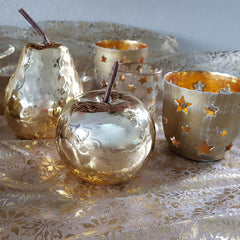 Gold Cutout Star Votive - The Chic Nest