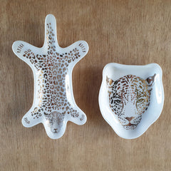 Golden Cheetah Face Trinket Dish - The Chic Nest