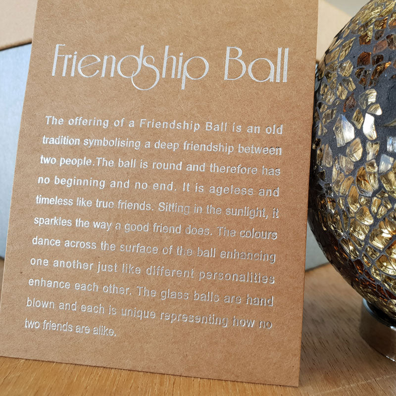 Friendship Ball Gold Mosaic - The Chic Nest