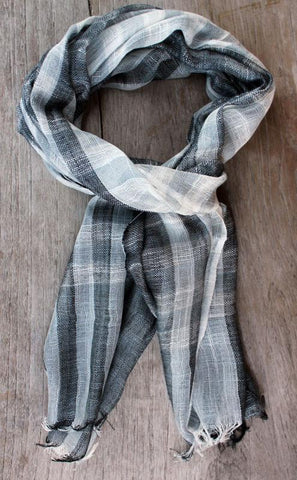Grey Check Woven Scarf - The Chic Nest