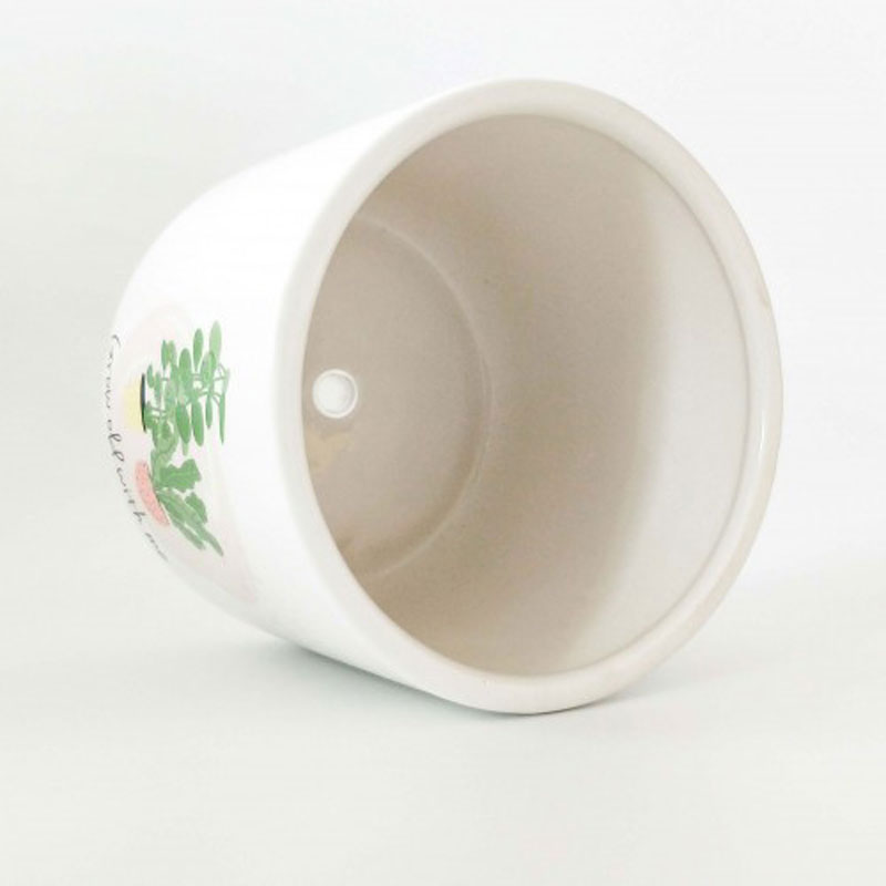Grow Old With Me Ceramic Planter Pot - The Chic Nest
