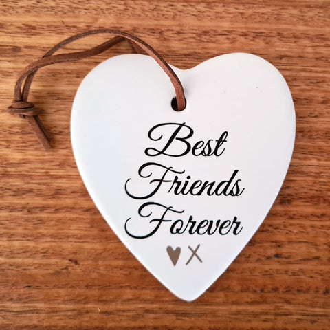 Best Friends Forever Hanging Heart Ornament