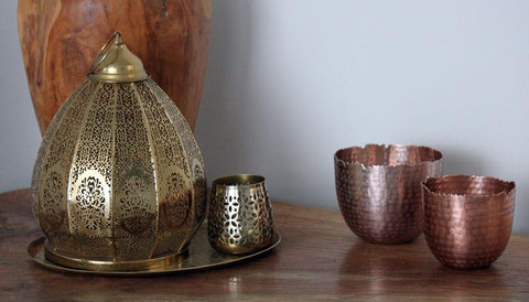 Copper Hammered Metallic Bowls Set of 2 - The Chic Nest