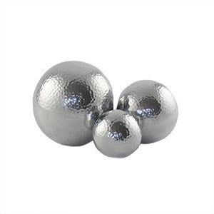 Hammered Aluminium Decorative Ball 8cm