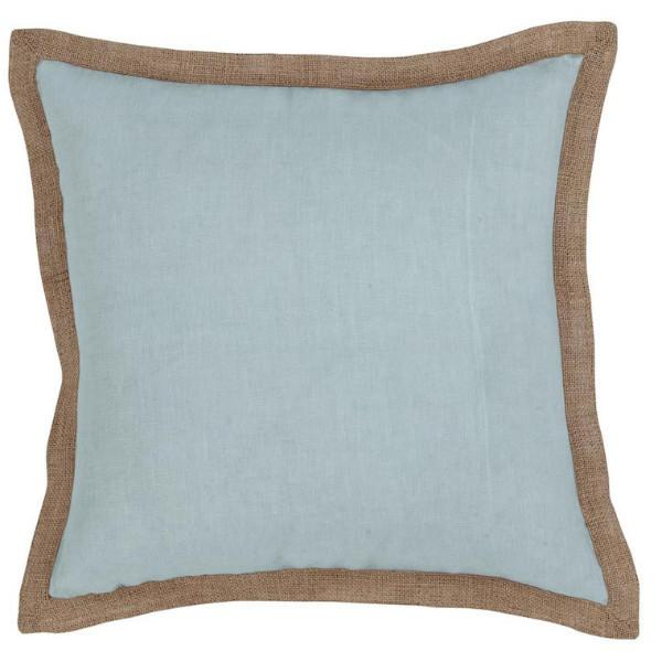Hampton Cushion Linen Blue - The Chic Nest