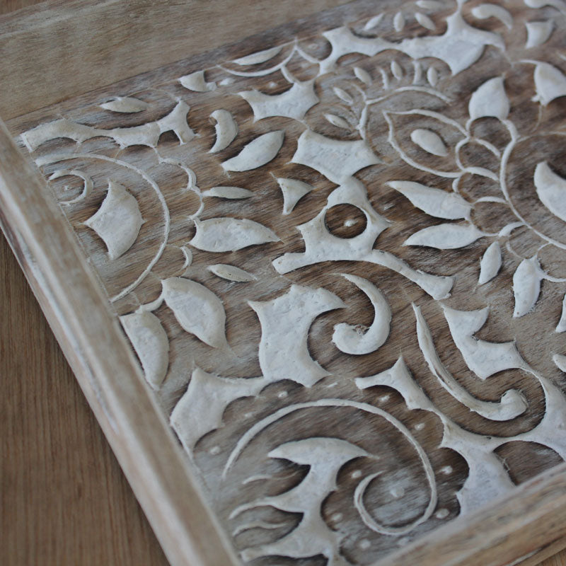 Engraved Wooden Tray - Handmade