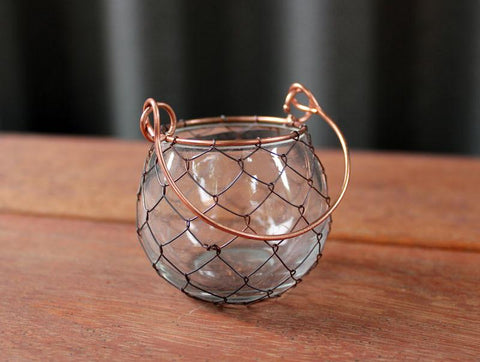 Handcrafted Glass & Wire Votive - The Chic Nest