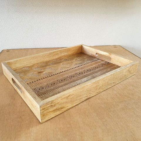 Handcrafted Wooden Tray - The Chic Nest