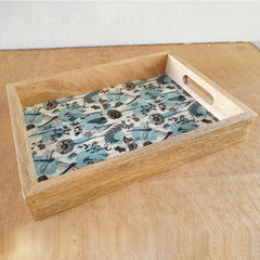 Dragonfly Wooden Tray - Handmade - The Chic Nest