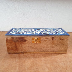 Set of 2 Bone Inlay Handmade Boxes