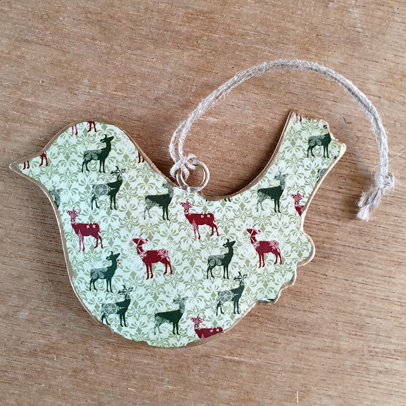 Hanging Deer Design Bird Ornament