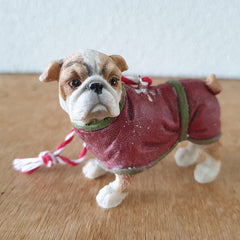 Hanging Bulldog Christmas Ornament - The Chic Nest