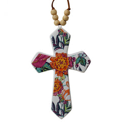Hanging Ceramic Cross Tapestry