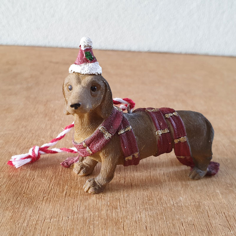 Hanging Dachshund Christmas Ornament - The Chic Nest