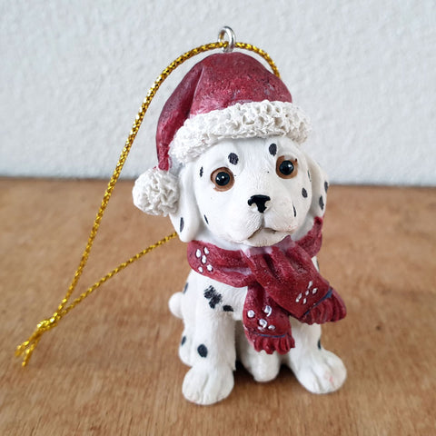 Hanging Dalmation Christmas Ornament