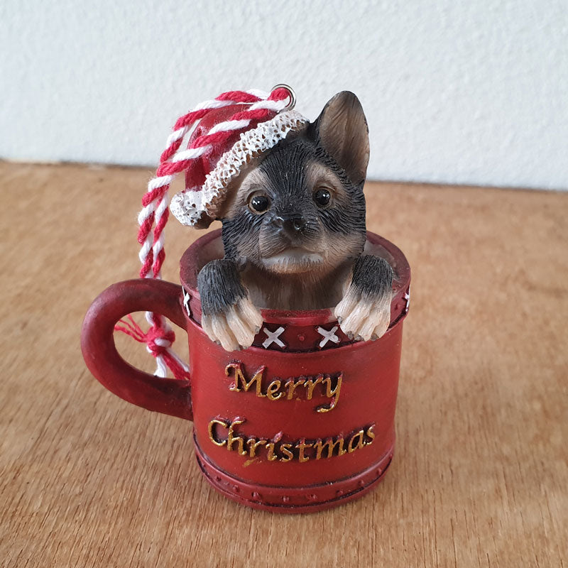 German Shepherd Pup Christmas Hanging Ornament - The Chic Nest