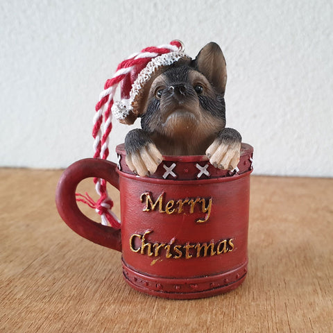 German Shepherd Pup Christmas Hanging Ornament
