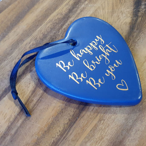 Hanging Heart Be Happy Ornament