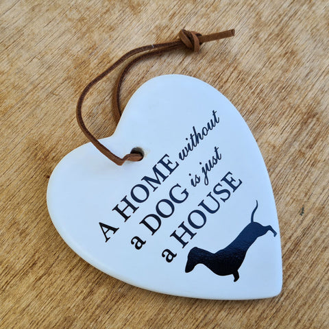 Hanging Heart Dog Ornament
