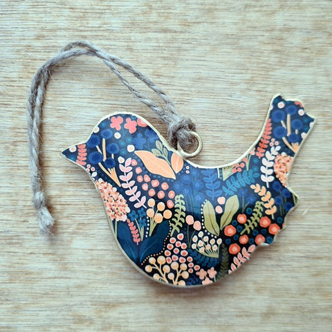 Multicolour Metal Bird Ornament