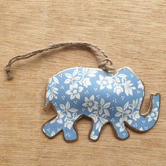 Pastel Metal Elephant Ornament - The Chic Nest
