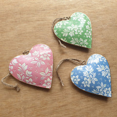 Pastel Metal Heart Ornament - The Chic Nest
