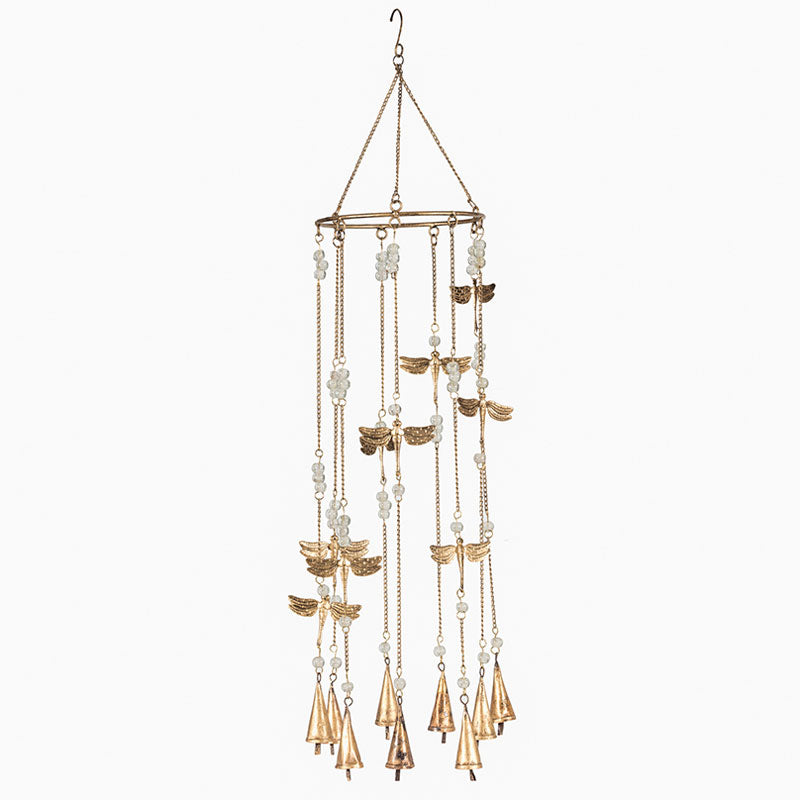 Hanging Windchime With Dragonflies