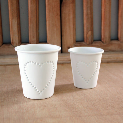 Set of 2 Heart Votive Holders