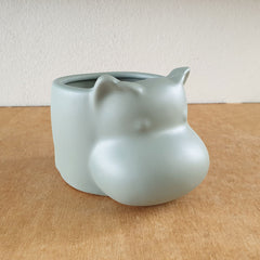 Hippo Planter - Sage - The Chic Nest