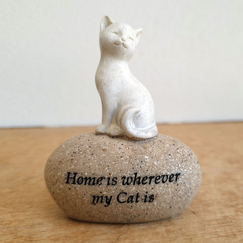 Home Is Wherever My Cat Is Figurine - The Chic Nest