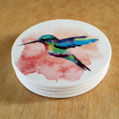 Hummingbird Set of 4 Coasters - The Chic Nest