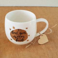 I Love You To The Moon And Back Gift Boxed Mug - The Chic Nest
