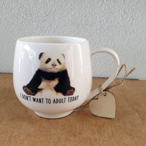 I Don't Want To Adult Today Panda Gift Boxed Mug - The Chic Nest
