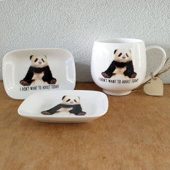 I Don't Want To Adult Today Panda Trinket Dish - The Chic Nest