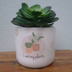 I Wet My Plants Ceramic Planter Pot