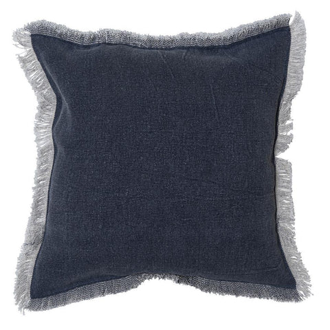 Indigo Fringed Cushion