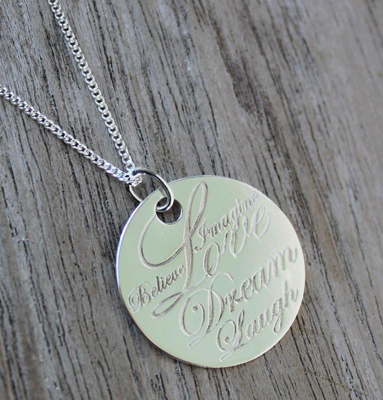 Inspirational Pendant & Necklace - The Chic Nest