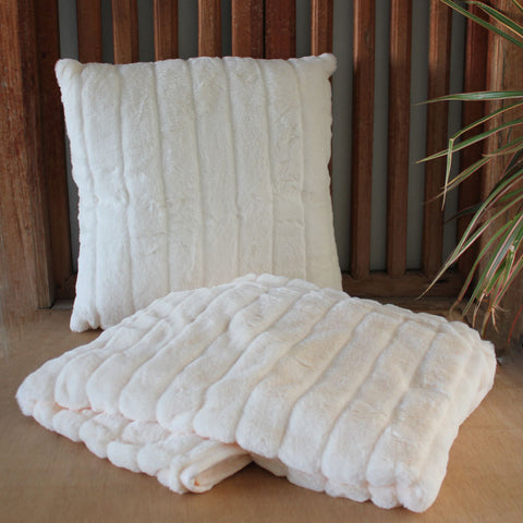 Plush Ivory Cushion - The Chic Nest