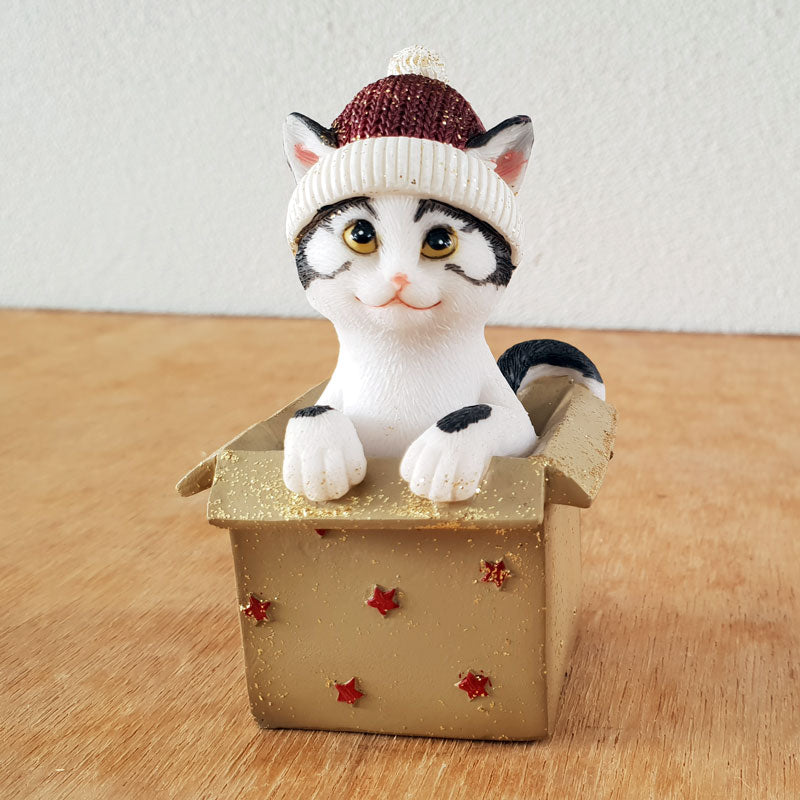 Jingle Cat In A Present  - Red
