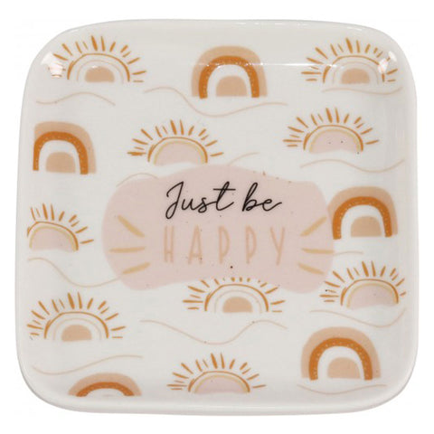 Just Be Happy Trinket Dish - The Chic Nest