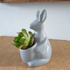Grey Kangaroo Planter Large - 19cm - The Chic Nest