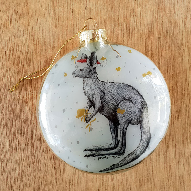 Christmas Kangaroo Santa Bauble - The Chic Nest