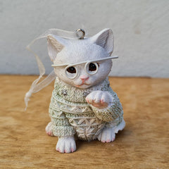 Kitty Meow Hanging Christmas Ornament - Mint