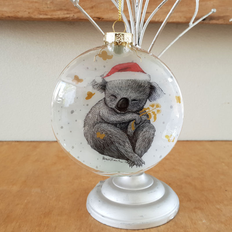 Christmas Koala Santa Bauble - The Chic Nest