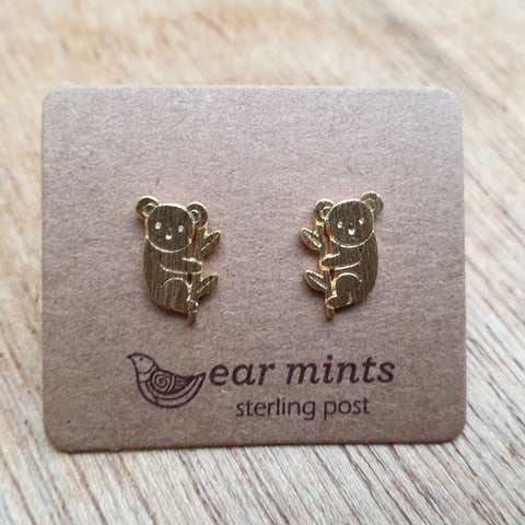 Koala Ear Mints Earrings - Gold